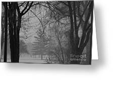 Fog At Metro Beach Greeting Card