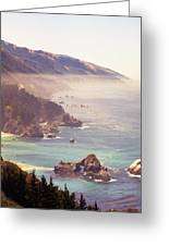 Fog Big Sur Greeting Card