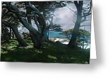 Fog Intrusion Point Lobos Greeting Card
