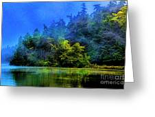 Fog Lake Greeting Card