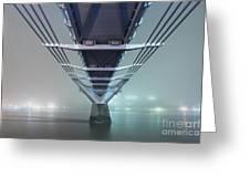 Fog - Millennium Bridge Greeting Card