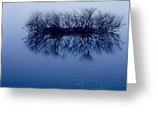 Fog Of Blue Greeting Card