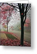 Fog On A November Morning Greeting Card