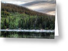 Fog On Bear Lake Greeting Card