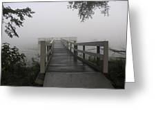 Fog On The Dock Greeting Card