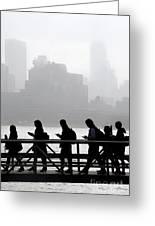 Fog On The Hudson Greeting Card
