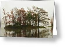 Fog On The River Greeting Card