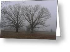 Fog On The Yorktown Battlefield Greeting Card