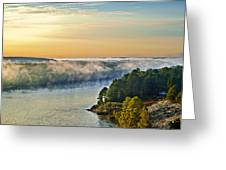 Fog Over Savannah River Greeting Card