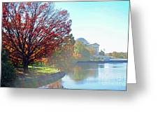 Fog Over The Potomac Greeting Card