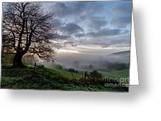 Fog Rolled In Greeting Card