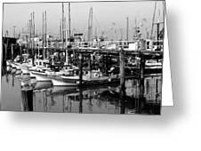 Foggy Boats Greeting Card