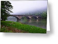 Foggy Bridge Greeting Card