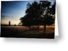 Foggy Country Morning  Greeting Card