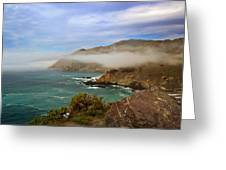 Foggy Day At Big Sur Greeting Card