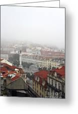 Foggy Day At Lisbon. Portugal Greeting Card
