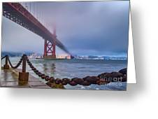 Foggy Day At The Golden Gate Bridge Greeting Card