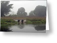 Foggy Day On A Canal Greeting Card