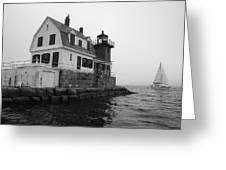 Foggy Day Sail Greeting Card