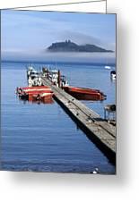 Foggy Dock Greeting Card