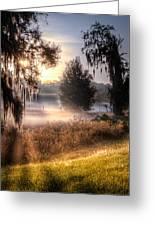 Foggy Dreamworld Greeting Card