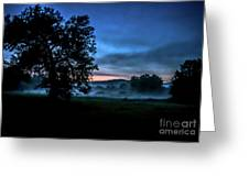 Foggy Evening In Vermont - Landscape Greeting Card