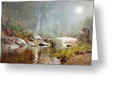Foggy Fishin Hole Greeting Card