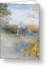 Foggy Morning At The Lake Greeting Card
