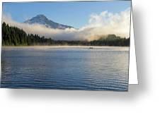 Foggy Morning At Trillium Lake Greeting Card