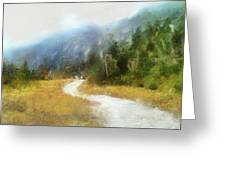 Foggy Morning On Mount Mansfield - 2014 Greeting Card