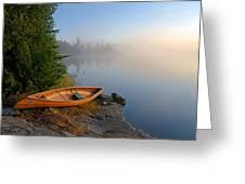 Foggy Morning On Spice Lake Greeting Card