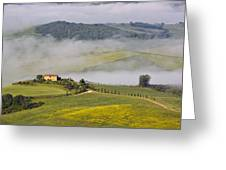 Foggy Morning Sunrise Greeting Card