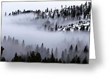 Foggy Mountain Pass Greeting Card
