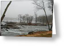 Foggy River Greeting Card