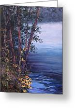 Foggy Riverbank Greeting Card