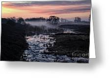 Foggy Sunrise At Chasewater Greeting Card