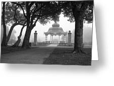 Foggy Tower Grove Greeting Card