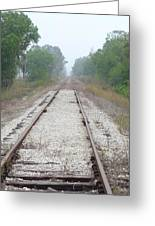 Foggy Tracks Greeting Card