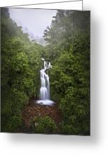 Foggy Waterfall Greeting Card