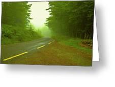 Foggy Way.  Greeting Card
