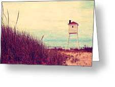 Foghorn At Big Sable Point Greeting Card