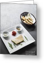 Foie Gras French Traditional Duck Pate With Bread  Greeting Card