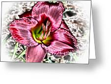 Foiled Beauty - Daylily Greeting Card