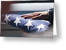 Folded American Flag Greeting Card
