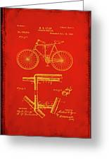 Folding Bycycle Patent Drawing 1c Greeting Card