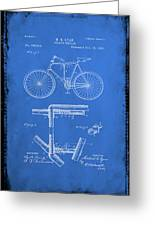 Folding Bycycle Patent Drawing 1d Greeting Card