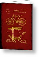 Folding Bycycle Patent Drawing 1f Greeting Card