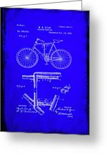 Folding Bycycle Patent Drawing 1h Greeting Card