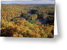 Foliage View From Crow Hill Leominster Greeting Card