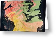 Folies Bergeres Greeting Card by Jules Cheret